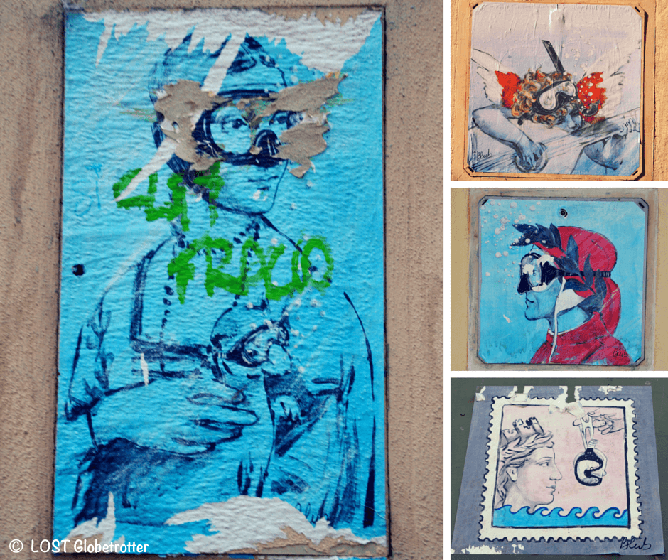Street Art Florencie - Blub, Itálie
