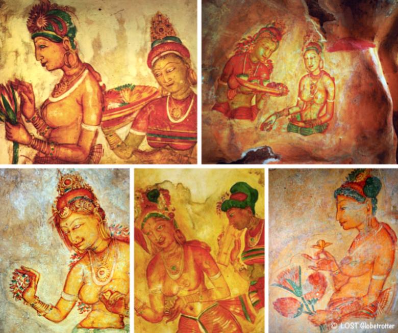 Fresky Sigiriyských krásek, Srí Lanka
