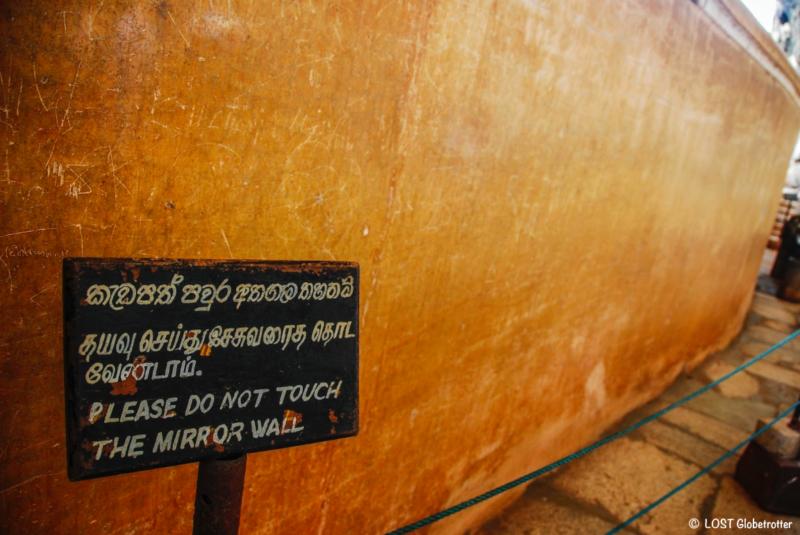 Zrcadlová zeď Sigiriya, Srí Lanka