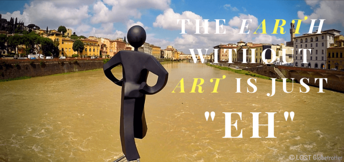 """Street Art Florencie: """"Obyčejný člověk"""" – Clet Abraham, Itálie"""