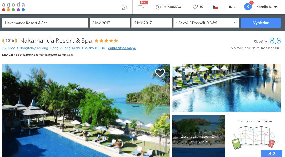 Lost Globetrotter_Thajsko ubytování na vlastní pěst ostrovy_Krabi Ao Nang Klong Muang_Nakamanda Resort & Spa_Agoda.com